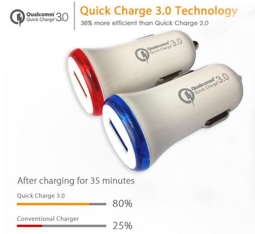 QC 3.0 Fast Charge Car Charger For Huawei Xiaomi Letv Meizu phones single port USB Qualcomm Quick Charge 3.0 Car-charger