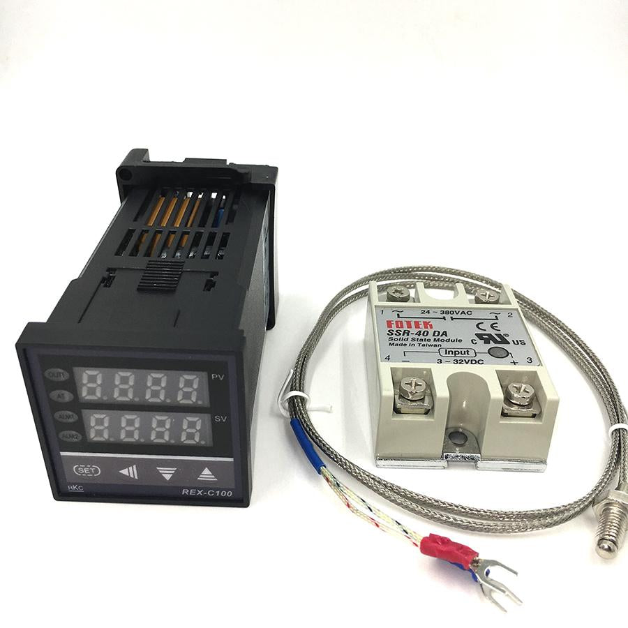 Rex C100 Digital Pid Temperature Controller Thermostat Ssr Output Wiring To The Max40a Relay