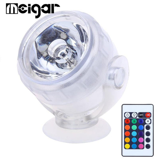 RGB Aquarium LED Submersible Light Coral Reef Fish Tank Mini Spotlight Outdoor Indoor Underwater Spot Lamp With Remote Control