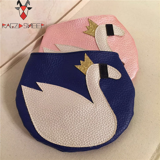 Raged Sheep Girls Small Coin Purse Change Wallet Kids One Shoulder Bag Coin Pouch Children Wallet Money Holder Silvery Swan Bags