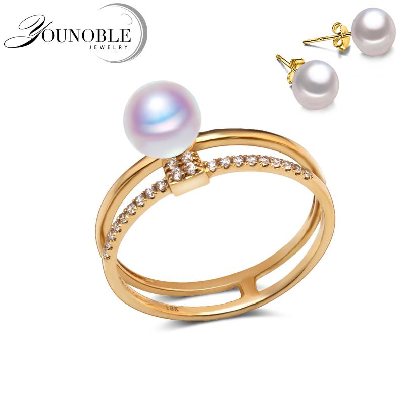 real hand minimalistic ring engagement island sunday rings a pearl white shop on
