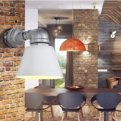 Retro Water Pipe Wall Lamp Vintage Fixtures Loft Style Industrial