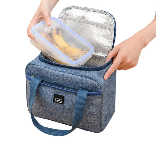 Reusable Insulated Lunch Bag For Kid Women Thermal Dinner Box Oxford Food Case Portable Refrigerators Picnic Travel Necessary