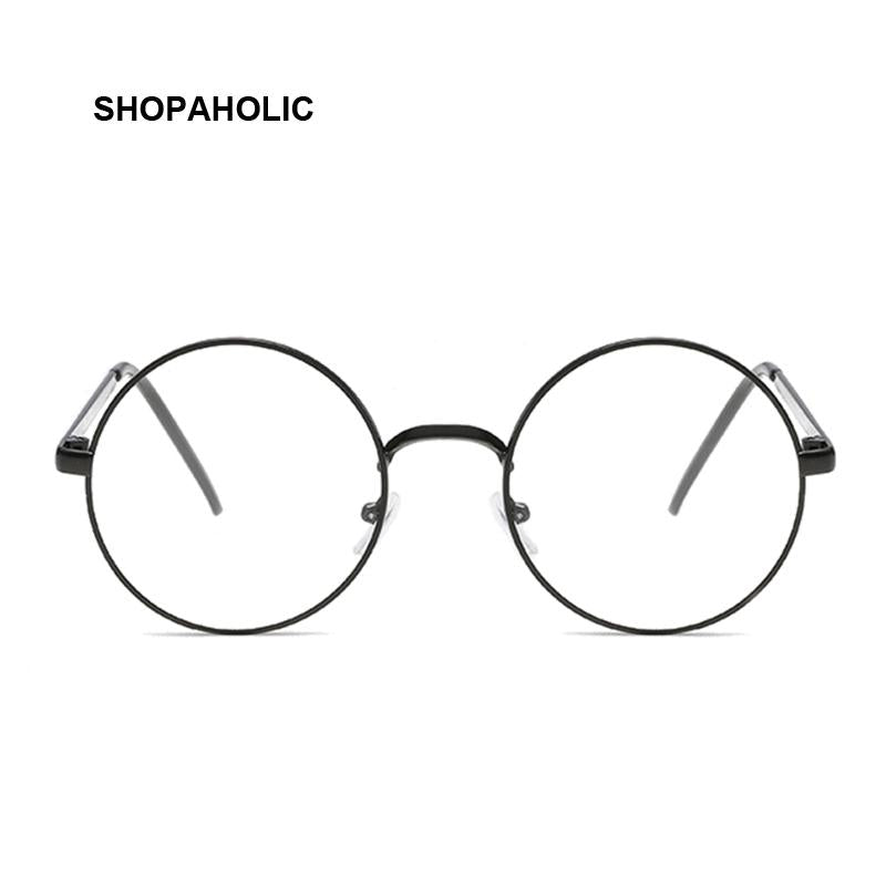 Round Ladies Sunglasses Retro Metal Frame Eyeglasses Women Korean ...