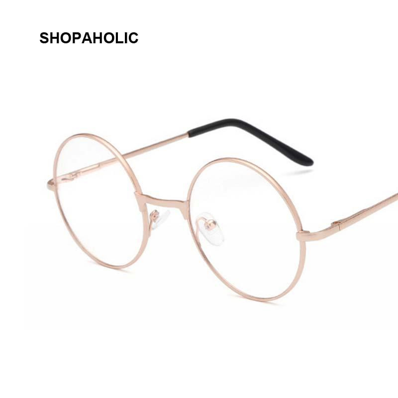 Round Mirror Sun Glasses for Women Men Retro Metal Frame Eyeglasses ...