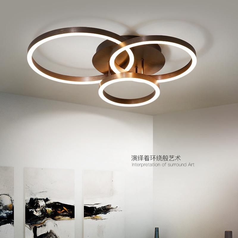 Round Modern Led ceiling lights for bedroom coffee gold Ceiling Lamp ...