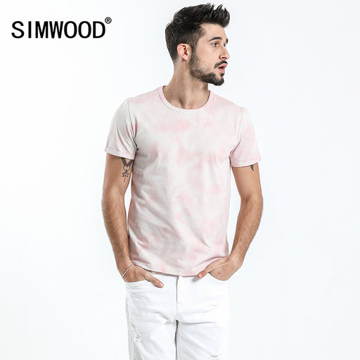 SIMWOOD New 2018 Summer T-Shirt Men O-neck Short Sleeve Vintage Fashion Casual Tops Tees Brand Clothing 180148