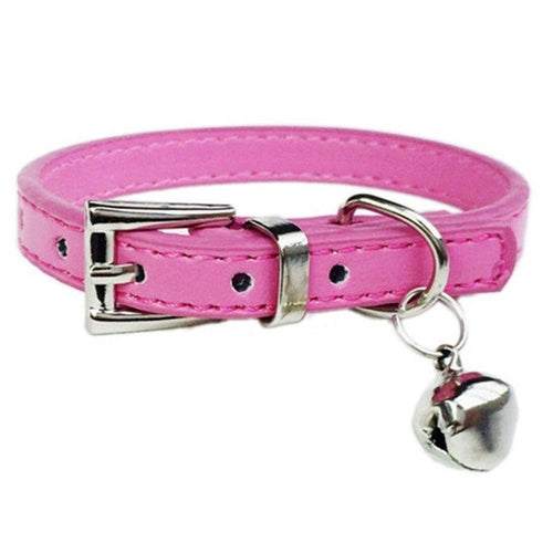 Small Cute pet cat Dog Collar PU leather puppy