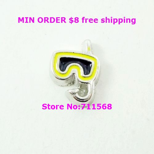 Snorkeling Mask Floating Charms Water Sports Glass Locket Charm For Magnetic Floating Locket Accessories