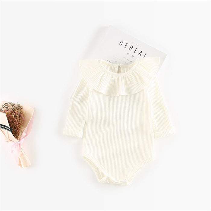 0b3b7f346d12 Spring Autumn Baby Girl Knitted Rompers Princess Newborn Baby ...
