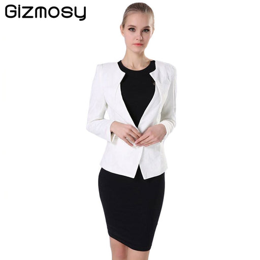 4428732668e Spring Women s Jacket Slim Lady s 2018 New Casual Warm Jackets Long Sleeve  One Button Suit Coat