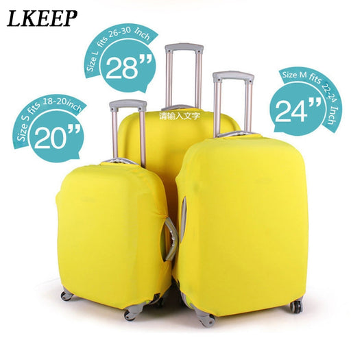 Suitcase Protective Covers Apply To 18~30 Inch Case Elastic Luggage Cover Stretchable 4 Colors