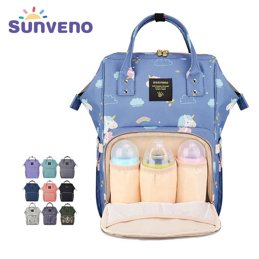 Sunveno Fashion Mummy Maternity Diaper Nappy Bag Large Baby Nursing Bag Travel Backpack Designer Stroller Bag Baby Care Unicorn