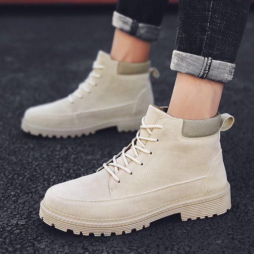 Super Warm Men's Autumn Winter Sued Leather Ankle Boots High Quality Men Comfortable Snow Boots Leisure Martin Boots Men Shoes