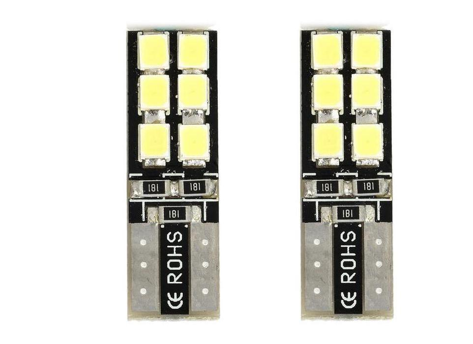 T10 12V W5W 194 6W LED SMD 6000K Cars From Canbus 3528 Light-Emitting  Diodes Independent Led Bulb 6 Led Light-Emitting Auto