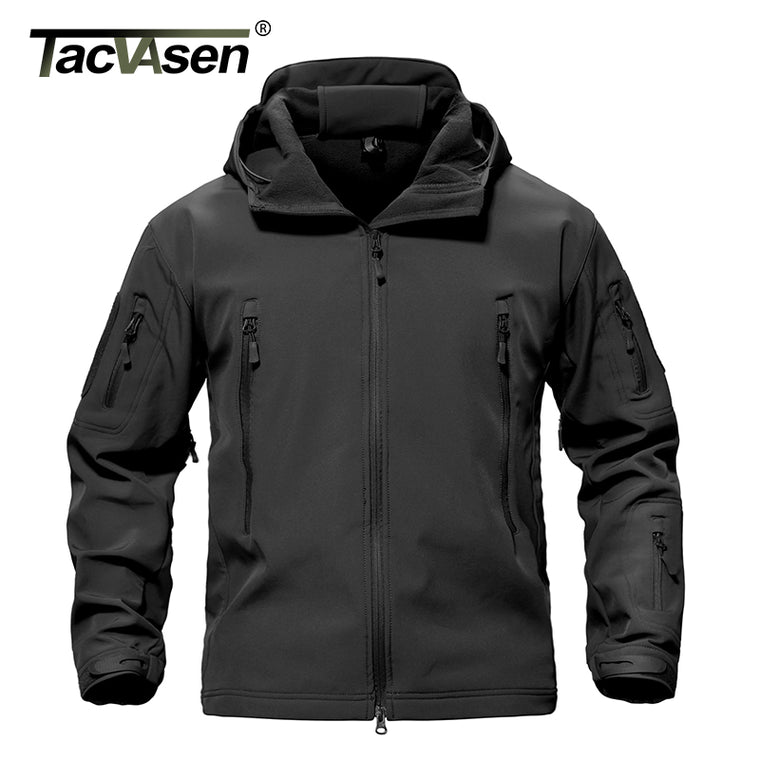 TACVASEN Army Camouflage Men Jacket Coat Military Tactical Jacket Winter Waterproof Soft Shell Jackets Windbreaker Hunt Clothes  1