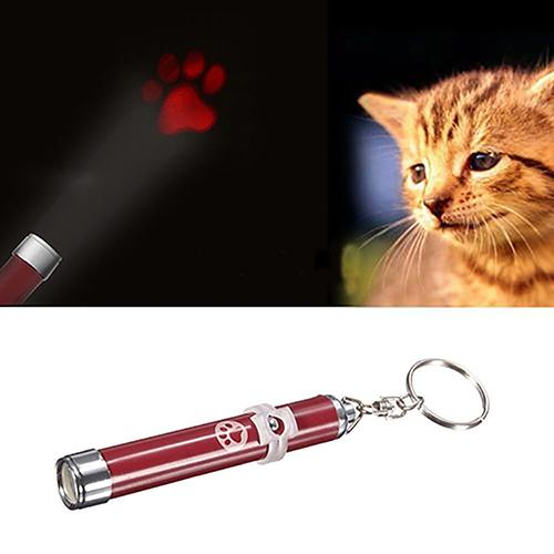 TINGHAO Funny Pet Dog Cat Toys LED Laser Light Pen Bright Mouse Fish Paw  Animation