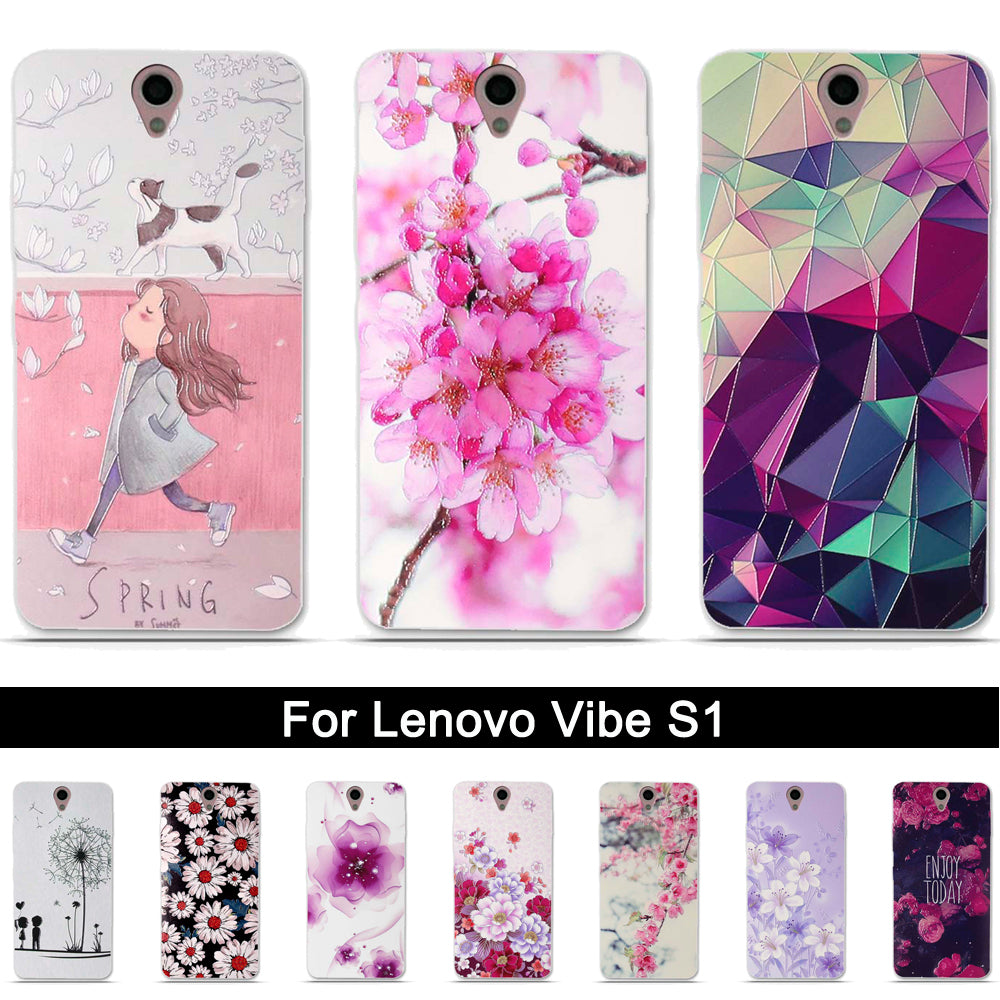 Tpu Case For Lenovo Vibe S1 Soft Silicone Phone Case Cover For