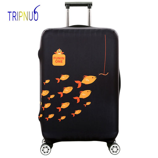 TRIPNUO Travel Suitcase Protective Covers Elasticity Cartoon Fish Luggage Covers for 18-32inch Thickest Suitcase Cover