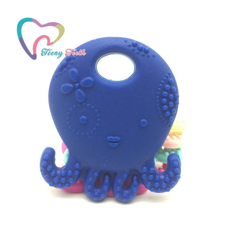 Teeny Teeth 1 PC Octopus Silicone Teether Toy BPA Free Silicone Pendant For DIY Pacifier Clip Soother Chain Baby Teething Toys