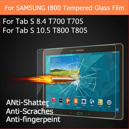 Tempered Glass For Samsung Galaxy Tab S 8.4 10.5 inch / T700 T705 T705C T800 T805 TabS Tablet Screen Protector Protective Film