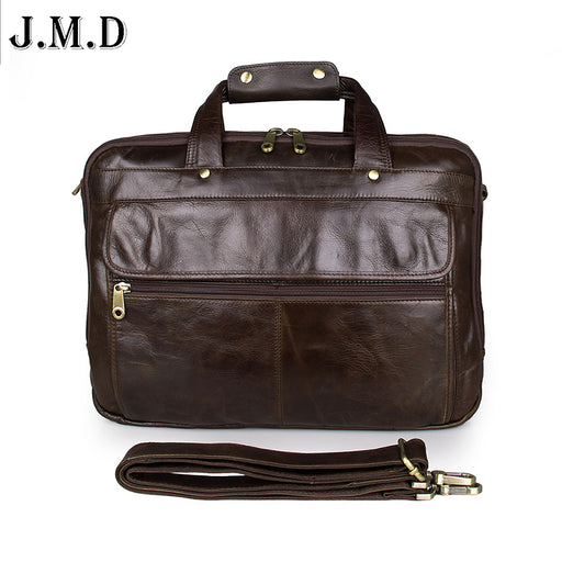 Three main pocket zipper men 100% Guarantee genuine leather business bag high-grade design men briefcases handbags messenge