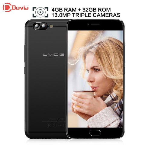 UMIDIGI Z Pro Android 6.0 5.5 inch Helio X27 Deca Core 4GB RAM 32GB ROM 13.0MP Dual Rear Cameras 3780mAh Mobile Phone
