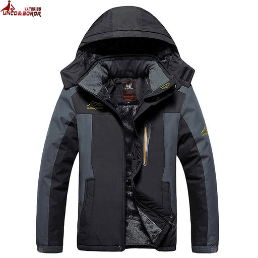UNCO&BOROR Size 5XL,6XL,7XL,8X,9XL winter jacket men outwear fleece thicken cotton-padded down parka coat men waterproof jacket