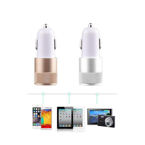 USB 3.1A Car Charger Adapter 2 Port USB Cigarette Lighter for Phone  MP3/MP4 Player