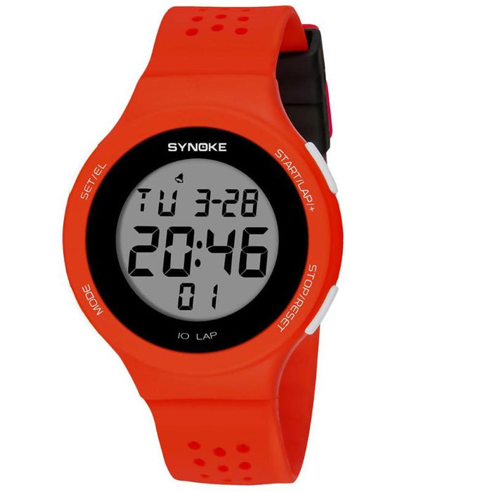 Ultrathin Unisex Electronic Digital Sports Waterproof Luminous Teen Watches  Mens Dive 50m Digital LED Military Sports