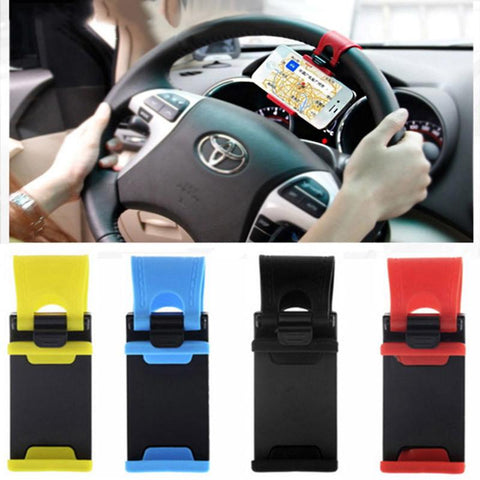 Universal Car Steering Wheel Phone Socket Holder Navigate Case Cover For iPhone 5 6 6S Plus For Samsung Galaxy S7 S6 XiaoMi Mi5