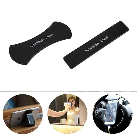 Universal Mobile Phone Magic Sticker Holder For iphonre Vivo Reusable Washable Silicone  Holder Multi-Function Car Bracket Pods