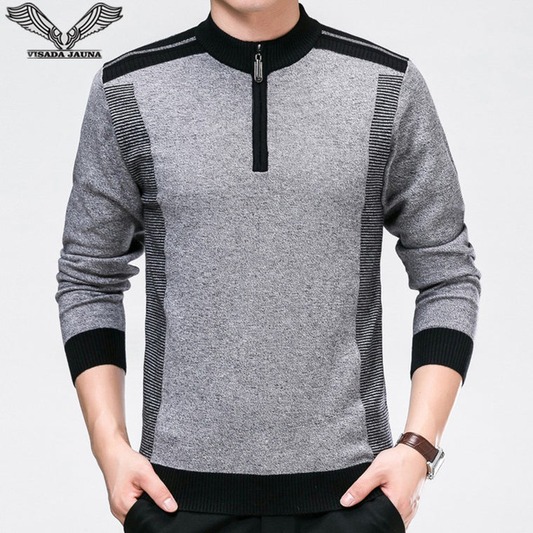 VISADA JAUNA 2017 New Autumn Winter Men Sweaters Casual Fashion Men's Slim Fit Knitting Sweaters 6XL Big Size Men Sweaters N6676