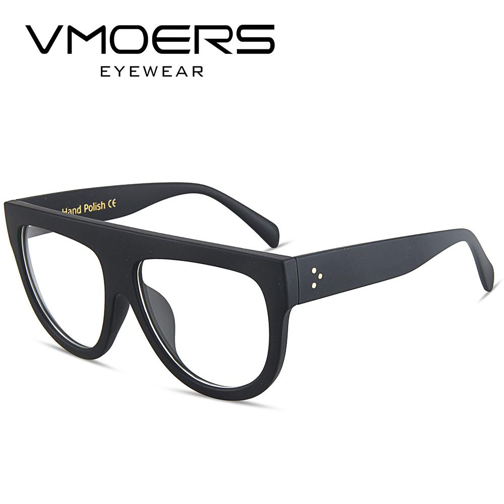 VMOERS Flat Top Cat Eye Eyewear Frames Women Optical Clear Glasses ...