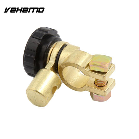 Vehemo Universal Car Charger Cut-Off Switch ElectricPower Kill Switchs Black Gold Isolator