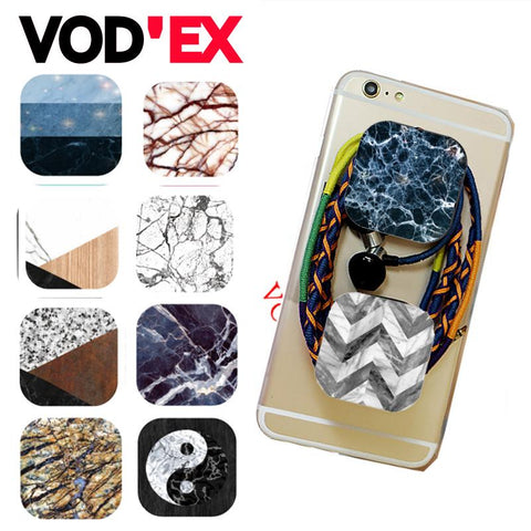Vodex Marble Square pop phone stand Outdoor Travel Silicone finger Holder Telescopi For Huawei xiaomi Meizu ABS Balloon stent