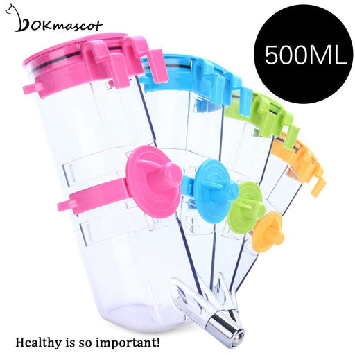 Vokmascot Dog Drinking Bottle Pet Automatic Slow Water Dispenser Plastic Travel 500ml Durable Lovely cat supplies