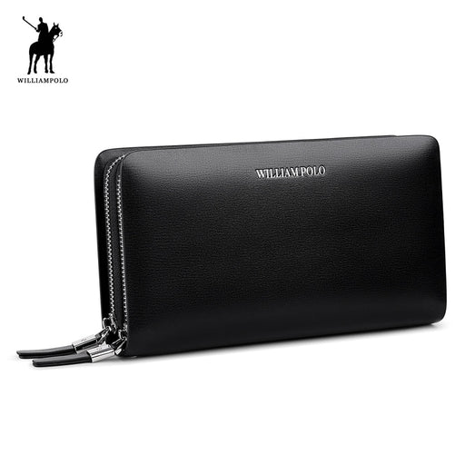 WILLIAMPOLO 2018 Men Wallet Genuine Leather Purse Fashion Casual Lonog Business Male Clutch Wallets Men's Handbags POLO239