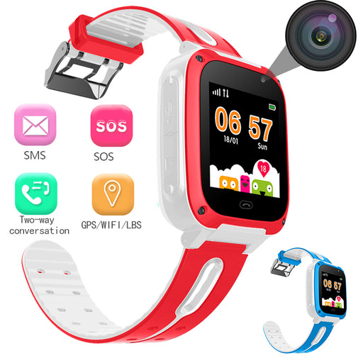 WISHDOIT 2018 Popular Children's Smart Watch GPS Positioning Real-time Monitoring SOS Help Dial Voice Chat Love Reward Watches