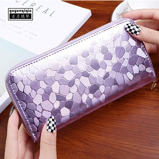Wallet Women 2018 New Stone Pattern Womens Wallets and Purses Female Long Style Ladies Wallet Korean Zipper Clutch Handbag