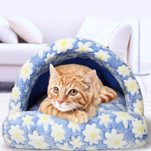 Warm Pet Soft Warm Bed House Plush Cozy Nest Puppy Cat Mat Slippers Shape Pad Cushion Cute Winter Dog Beds & Mats Cat Supplies
