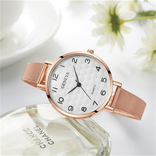 Watch For Women 2018 New Design Creative Watches Rose Gold Dial Quartz Wristwatches Hot relogio feminino zegarek damski