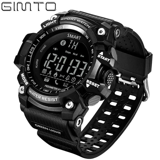 Watch men sport digital Pedometer Bluetooth Watch GIMTO Smart Pedometer Calorie Led Watches relogio masculino waterproof watch