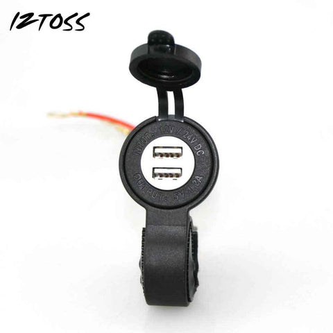 Waterproof Car charger USB adapter Motorcycle Cigarette Lighter USB Phone Charger 5V 4.2A