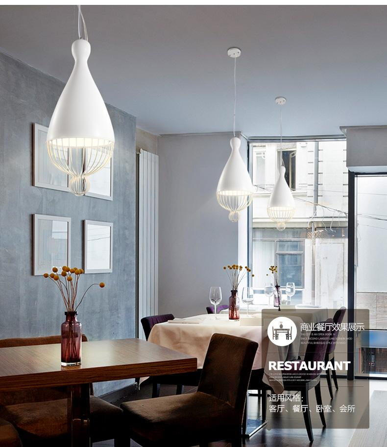 White Aluminum Pendant Light Fixture American Modern Hanging Lamps Home  Indoor Lighting Dining Room Restaurant Cafes