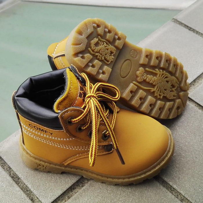 3354f38d6 Winter warm fashion child baby snow boots shoes soft bottom plush cotton  boy girls boots Size