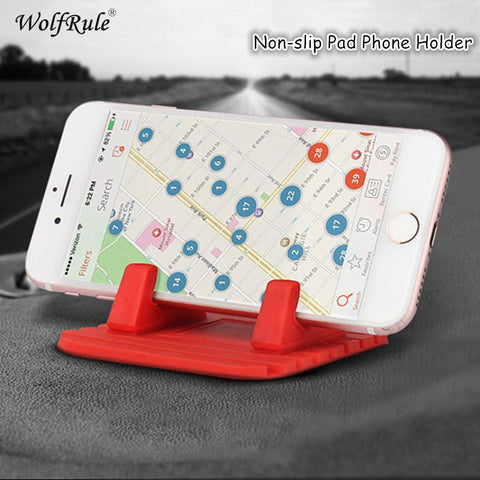 WolfRule Non-slip Desktop Stand Bracket For iphone 6s Silicone Antiskid Car Phone Stand for Anti-slip Mat Car GPS Phone Bracket<