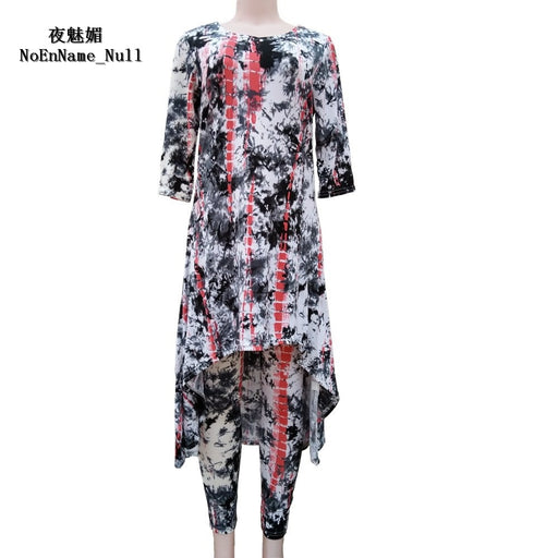 Woman Clothes 2017 Sexy 2 piece set Women African Vintage Print Maxi Dress Vestidos Boho Full Length Women Pants Two Piece Sets