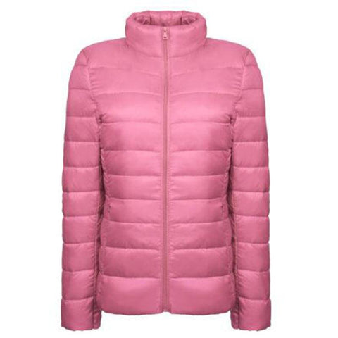 Woman Spring winter autumn Warm down Coat Ultra Light Duck Down Jacket Female Overcoat Solid Winter Coat Portable Parkas QH0971