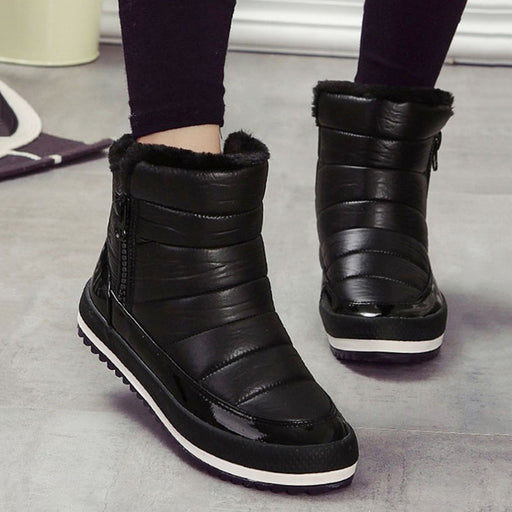 Women Boots Warm Shoes Woman 2018 Winter Botas Mujer Womens Winter Shoes Female Snow Boots Ankle Waterproof Winter Footwear Red